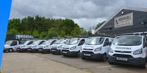Quickcall fleet of vehicles